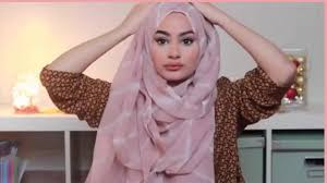 tutorial hijab turban ala april jasmine quick simple volume layered hijab tutorial youtube