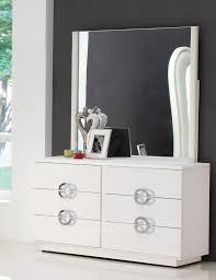 modern makeup dresser with mirror painted with white color and 8