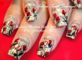 antique newspaper nails with flowers newsprint sharpie hack nail