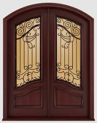 Front Doors For Homes Custom Leaded Glass Front Door With Sidelights And Transom