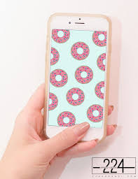 happy iphone backgrounds donut worry be happy pattern iphone wallpaper free instant