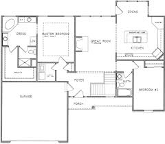 ranch style house plan 2 beds 2 00 baths 1461 sq ft plan 6 204