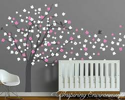 wall stickers australia nursery kids wall decals removable vinyl cherry blossom tree wall decal with birds