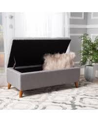 Grey Fabric Storage Ottoman Winter Deals On Noble House Hayden Grey Fabric Storage Ottoman