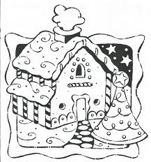 gingerbread house color sheet free download