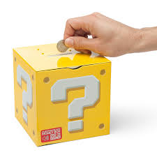 money box mario question block money box thinkgeek