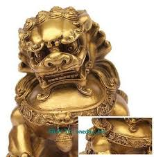 gold foo dogs large brass small large pair bronze lion foo dog statue