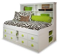 Twin Bed With Storage Colette Twin Big Bookcase Captain U0027s Bed
