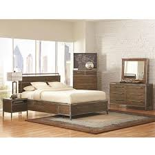 King Platform Bedroom Sets by Audrey Modern Bedroom Collection Industrial Wood And Metal