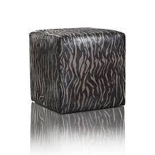 Animal Print Furniture by Leather Pouf Fancy Silver Zebra Print Furniture Pao U0026efe
