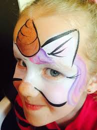 unicorn face paint x x super easy n really pretty