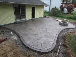 Concrete Patio With Pavers Concrete Patio Ideas Backyard Christmas Lights Decoration