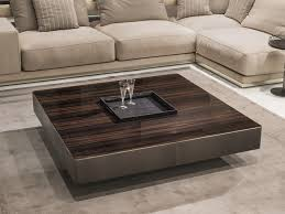 Square Wooden Coffee Table Wooden Coffee Table With Tray For Living Room Lonely By Longhi