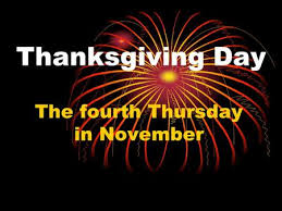 thanksgiving day the last thursday of november ppt