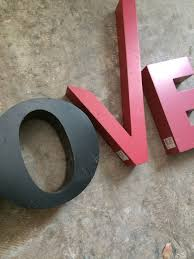 l o v e 4 letters home industrial metal sign wall decor