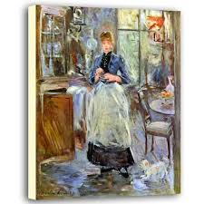 The Dining Room Berthe Morisot Canvas Poster  The Dining Room - Berthe morisot in the dining room