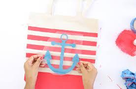 nautical tote diy striped nautical tote bag with cricut explore damask
