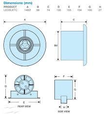 ledslktc showerlite 100mm in line axial shower fan kit with