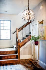 Rustic Style Chandeliers Rustic Glam Staircase Farmhouse With Copper Bronze Chandeliers
