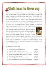 worksheet christmas in germany with key