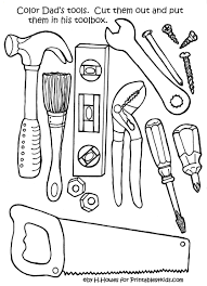 of tools coloring page free download