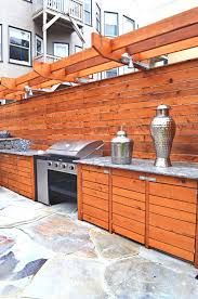 Barbecue Cabinets Bbq Storage Ideas Patio Contemporary With Wood Slat Wall Wood