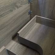 900mm Bathroom Vanity by Asti 900mm Light Grey Oak Timber Wood Grain Soft Close Wall Hung