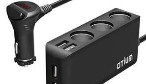 Multi Socket Car Charger With Usb Port Car Cigarette Lighter Adapter Splitter Dual Usb Ports Car Cup