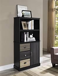 amazon com ameriwood home blackburn storage bookcase with