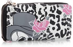 big handbag shop womens skull and roses print coin credit card