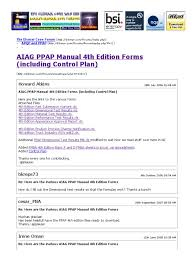 aiag ppap manual 4th edition forms including control plan