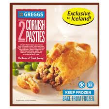 Greggs Halloween Cakes by Greggs 2 Cornish Pasties 362g Greggs Frozen Pies Frozen
