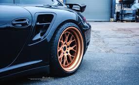 rose gold car porsche 997 turbo brixton forged wheels