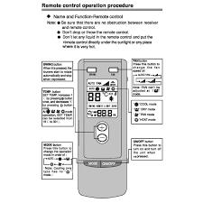 trane lcd remote control