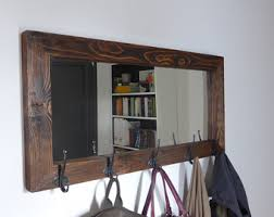 Shelf Hooks Entryway Rustic Coat Rack Etsy