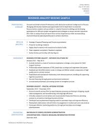 Resume Sample Business Analyst by How To Write A Business Analyst Resume Free Resume Example And