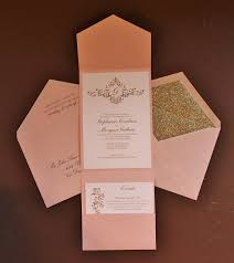 Pocket Invitation Cards Pink Gold Glitter U003d Fabulous