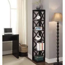 Black Corner Bookcase Convenience Concepts Oxford 5 Tier Corner Bookcase Espresso Ebay