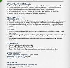 Skills Summary Resume Examples by Enjoyable Inspiration Summary Of Qualifications Resume Example 16