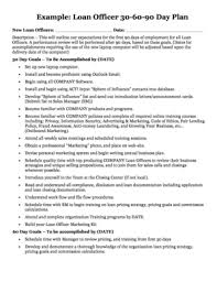 30 60 90 day plan template forms fillable u0026 printable samples