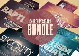 church postcard template bundle inspiks market