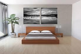 2 piece canvas black and white ocean decor bedroom decor 2 piece wall art mountain wall art landscape wall decor