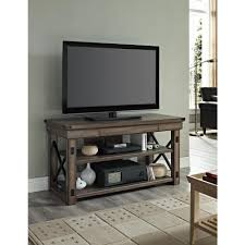 Grey And Oak Furniture Altra Furniture Wildwood Rustic Gray Oak Storage Entertainment