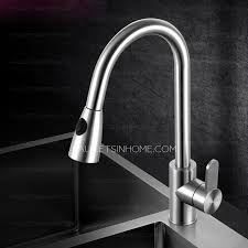 stainless steel kitchen faucets high end pullout shower water stainless steel kitchen faucet