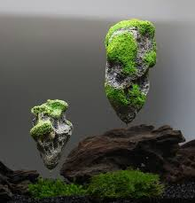 artificial floating pumice suspended aquarium fish tank