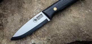 woodsman bushcraft knife w bog oak and k720 high carbon steel