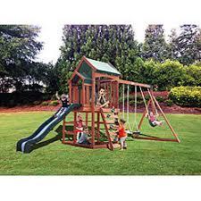 Wooden Backyard Playsets Swing Sets Playsets Sears