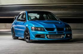 mitsubishi blue got my evo wrapped blue is a good change mitsubishi