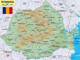 Map Of Romania Map Of Romania Map In The Atlas Of The World World Atlas