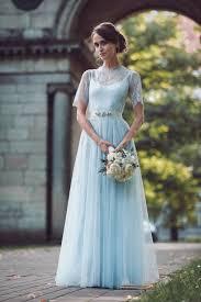 rhapsody in blue pale blue wedding dresses by katya katya
